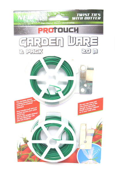 ProTouch Garden Ware Twist Ties with Cutter, 2 Pack