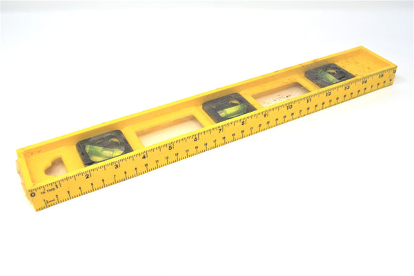 "16"" 3 Vial Level Ruler"