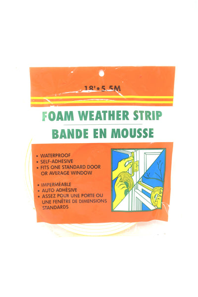 Foam Weather Strip, 18'