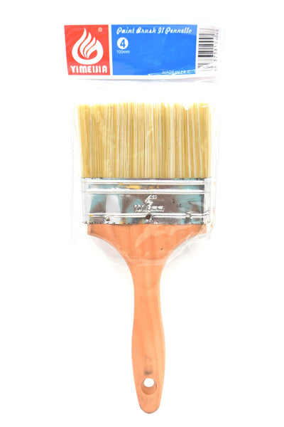 "4"" Paint Brush with Wooden Handle"