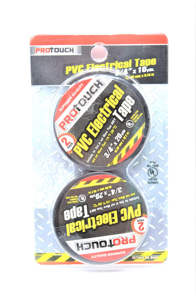 ProTouch PVC Electrical Tape 20 Yards, 2 Pack