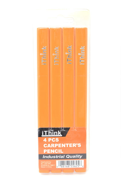 iThink 4 Piece Carpenter's Pencil Industrial Quality