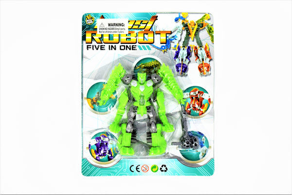 Boost Robot 5-In-1 Transformer Action Figure