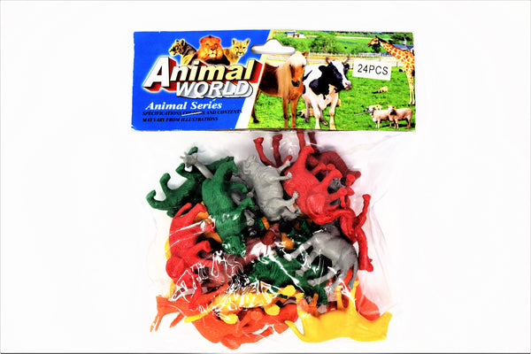 Animal World 24 Piece Set Mini Animal Figurines