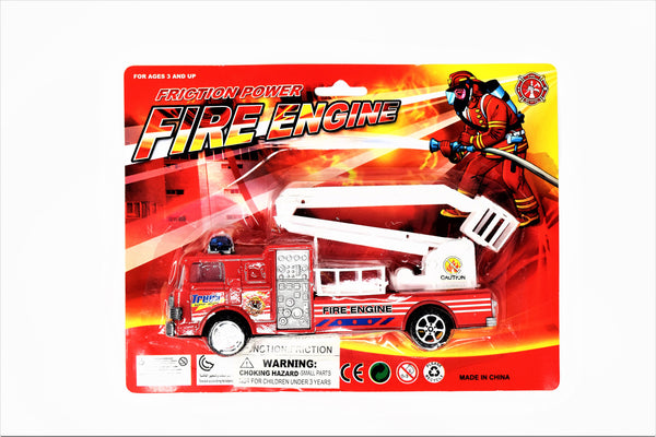 Bright Red Fire Truck Engine Set
