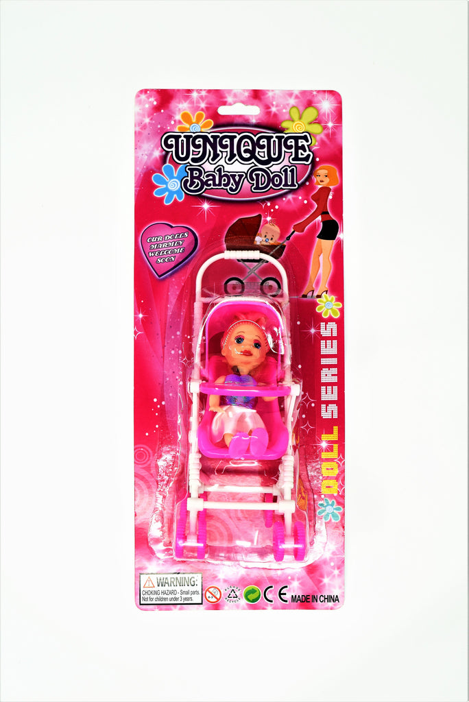 Unique Baby Doll & Stroller Set