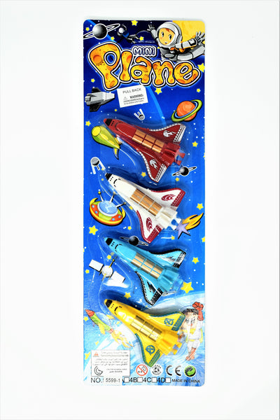 Mini Planes and Spacecrafts Set, 4-Piece