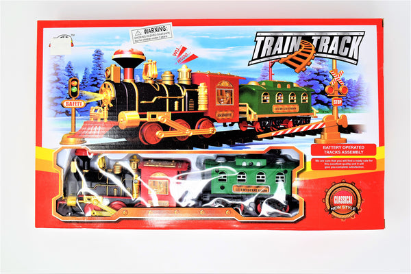 Classic Battery Operated Train Track Set With Trains