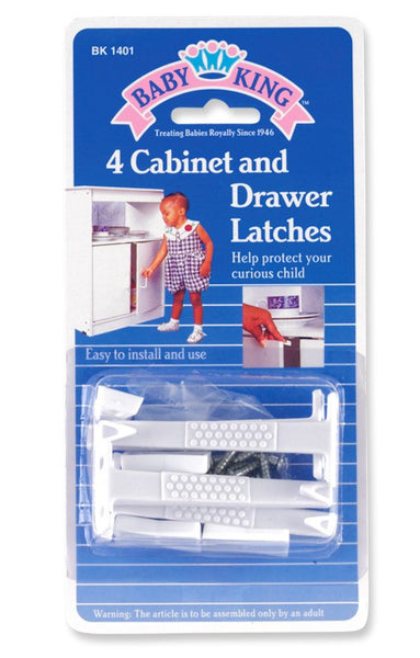 Baby King Cabinet Latches - 3 Pack