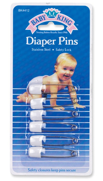 Baby King Diaper Pins 6-pc