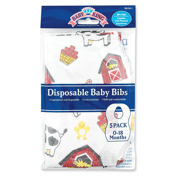 Baby King 5pc Disposable Bibs