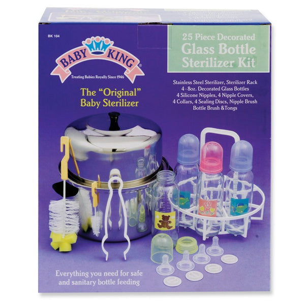 Baby King Glass Bottle Sterilizer Kit