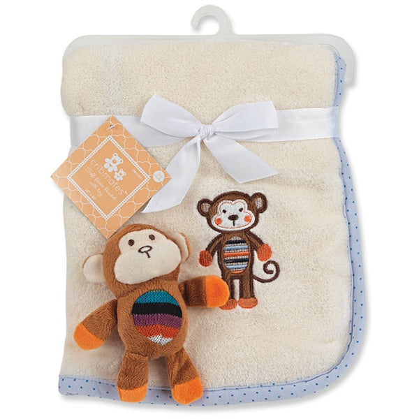 Crib Mates Soft Fleece Blanket With Toy