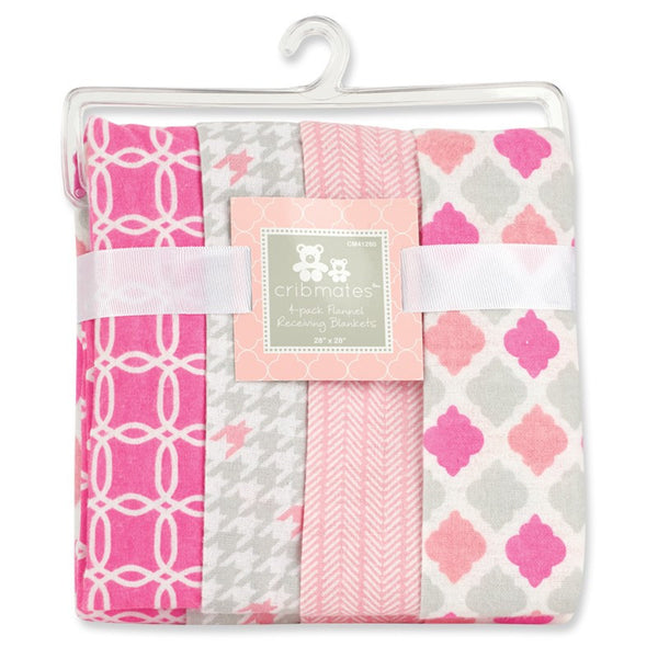 Crib Mates™ 4-Pack Flannel Receiving Blankets