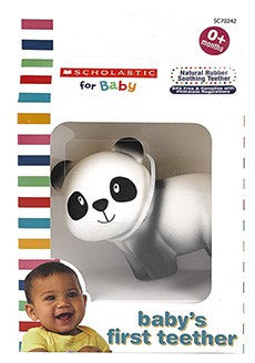 Scholastic Natural Rubber Soothing Teether - Panda