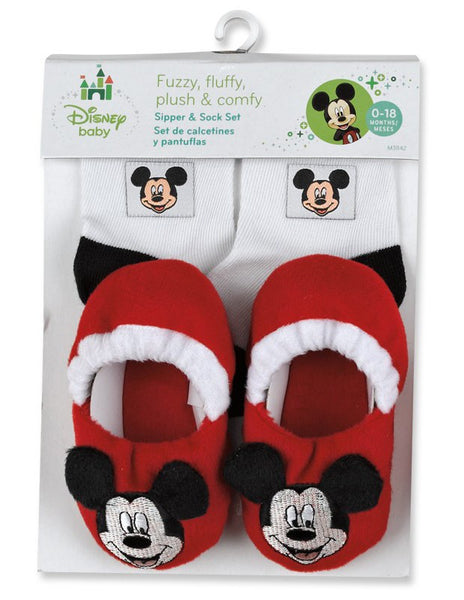 Disney Mickey Mouse Slippers And Sock Set