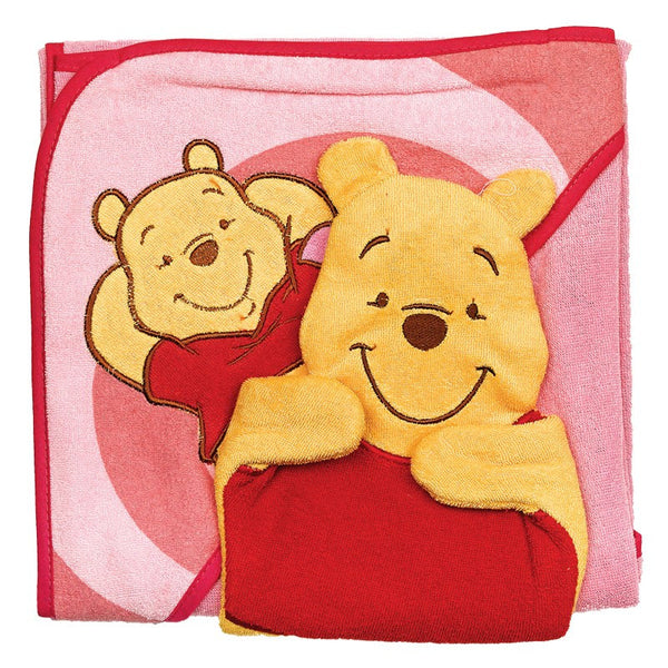 Disney Winnie The Pooh Hooded Towel Set With Washmitt