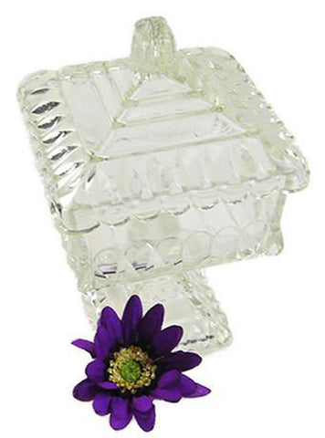 Jeannette Glass Wedding Box Vintage Glass Preserves Stand Kitchen