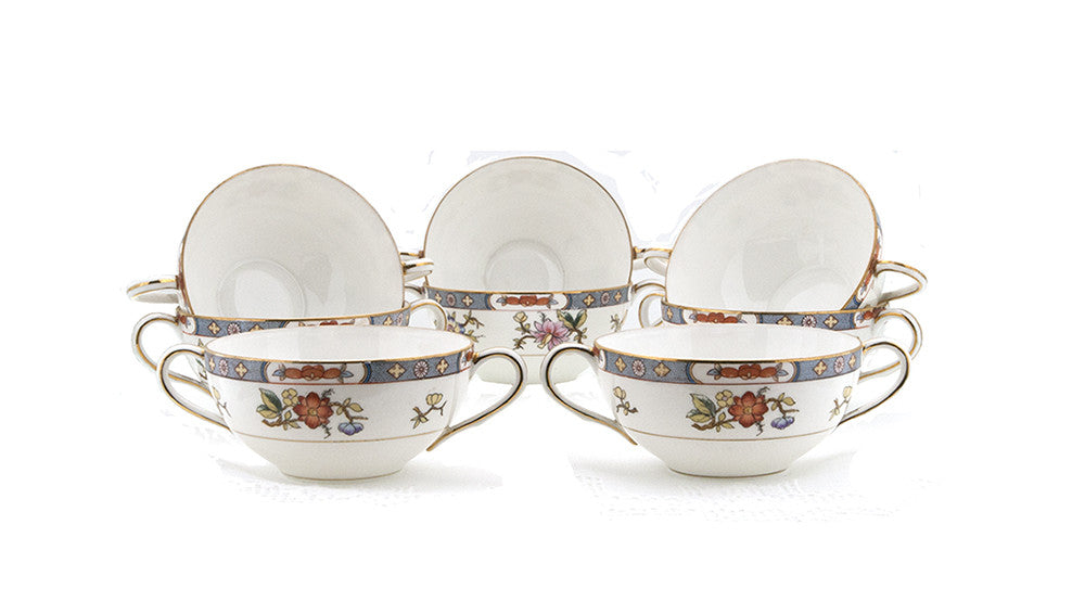 Antique Noritake Nippon Cream Soup Bowls Double 1912 Handled Cups Set of 8  Fine Bone China Dishes - PlumsandHoneyVintage