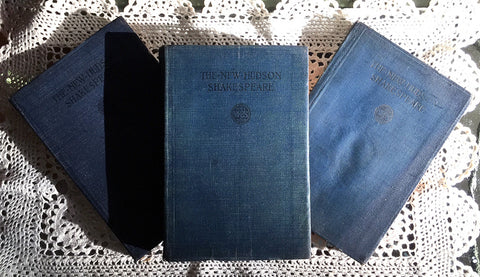 Antique Books / New Hudson Shakespeare / Three Volumes / Macbeth / Twelfth Night / Hamlet / Graduation Gift Idea / Literature / History / Edwardian Books / Home Decor