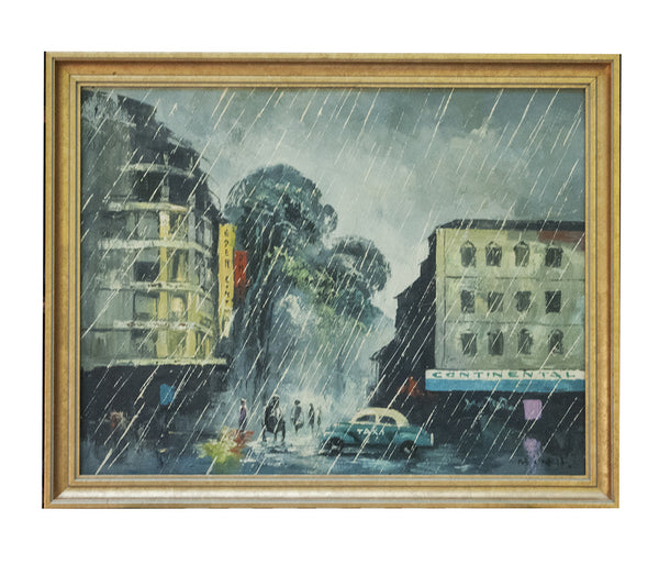 Fine Art Oil on Canvas by MINH Saigon Ho Chi Minh City Viet Nam Framed Painting - PlumsandHoneyVintage