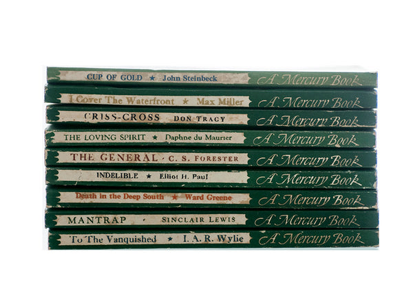 Rare American Mercury Paperback Books, Nine First Edition Softcover Books, H. L. Mencken, Lawrence Spivak Mercury Books, Collectible Books