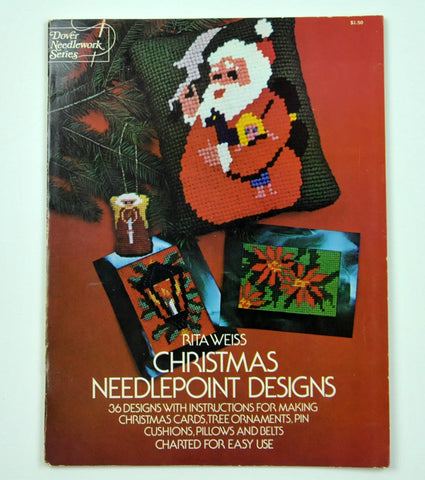 Vintage Needlepoint Design Book Christmas Needlepoint Designs, 36 Designs. Rita Weiss Crafting Needlework