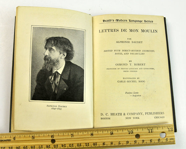 Title page, Lettres de mon Moulin, with photo