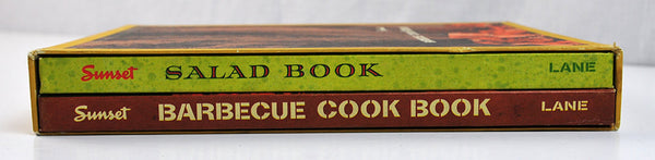 Vintage Cookbooks Sunset Salad Sunset Barbecue Boxed Set of Two Outdoor Summer Cooking Grilling Recipes First Printing 1962 Retro Graphics - PlumsandHoneyVintage