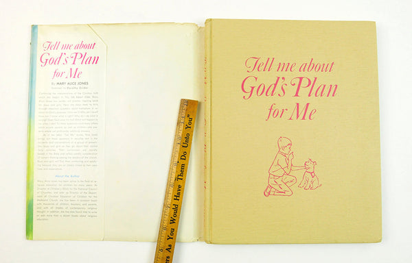 Vintage Children's  Religious Book Tell Me About God's Plan for Me Mary Alice Jones 1965 First Printing Dust Jacket Kid's Religion Christian - PlumsandHoneyVintage