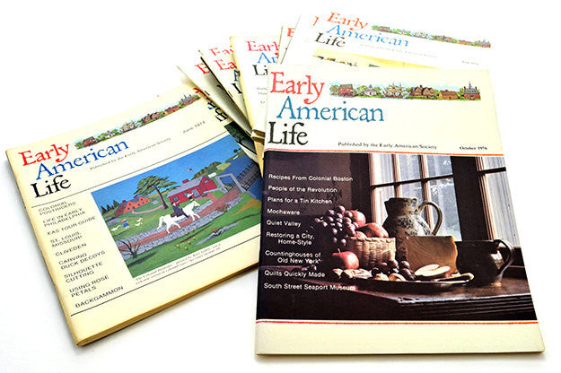 Vintage Early American Life Magazine Lot Collection of Twelve (12) Early American Society Colonial Crafts Heritage Interiors Home Schooling - PlumsandHoneyVintage