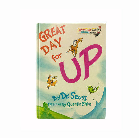 Great Day for UP Dr. Seuss Book 1974 First Edition Full Number Line Early Printing Bright and Early Vintage Children's Book Hardcover - PlumsandHoneyVintage