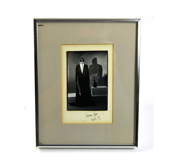 Vintage Art Photography by Steven Haas Noel Signed and Framed Black and White Fashion Photo Under Glass Elegant Evening Wedding Anniversary - PlumsandHoneyVintage