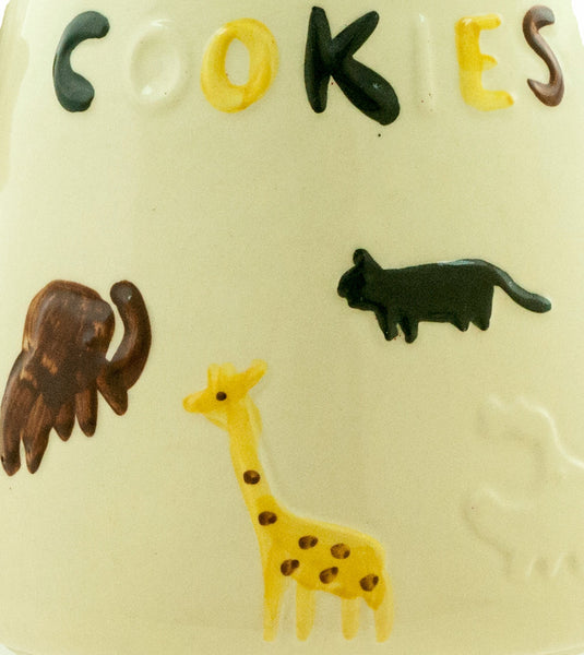 Vintage Cookie Jar USA American Bisque 1950s Animal Cookies Cookie Jar Zoo Circus Animals Mid Century Kitchen Decor Child's Room Decor - PlumsandHoneyVintage