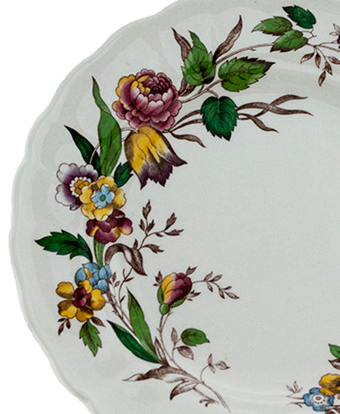Vintage Grindley Plates Set of 5 Marlborough Royal Petal  Rosalind Transferware Pattern Porcelain Lunch Salad Plates Replacement China