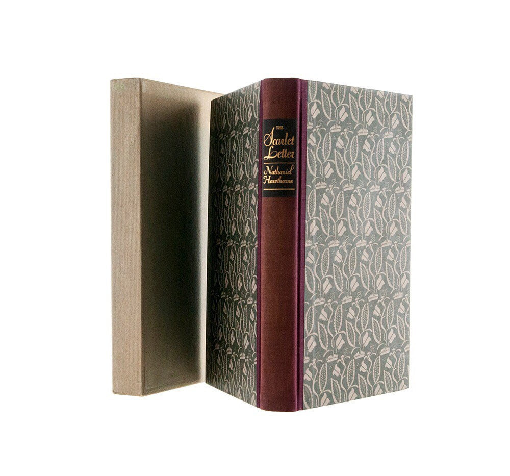 The Scarlet Letter Nathaniel Hawthorne Heritage Press 1935 in Slip Case Color Woodblock Prints by W A Dwiggins Collectible Edition Vintage - PlumsandHoneyVintage