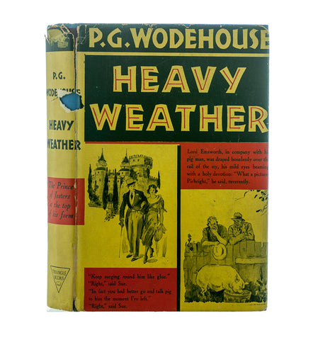 Heavy Weather, P. G. Wodehouse, First Edition, Third Printing, 1938, Out of Print Books, Hardcover with Dust Jacket - PlumsandHoneyVintage
