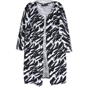 Black White Abstract Duster