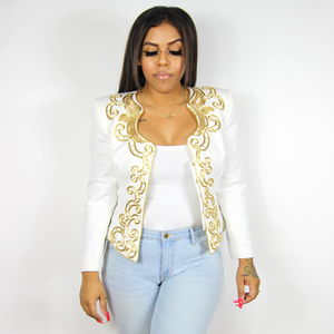 White & Gold Jacket