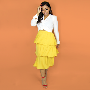 Yellow Layered Skirt