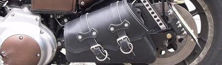 """Bobber Bracket"" Hard Mount & Leather Swingarm Bag Package"