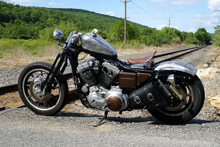 Dead Creek Cycles Bobber Bracket with Bobber Bag