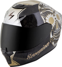 Load image into Gallery viewer, EXO-R420 FULL-FACE SUGARSKULL HELMET BLACK/GOLD XS