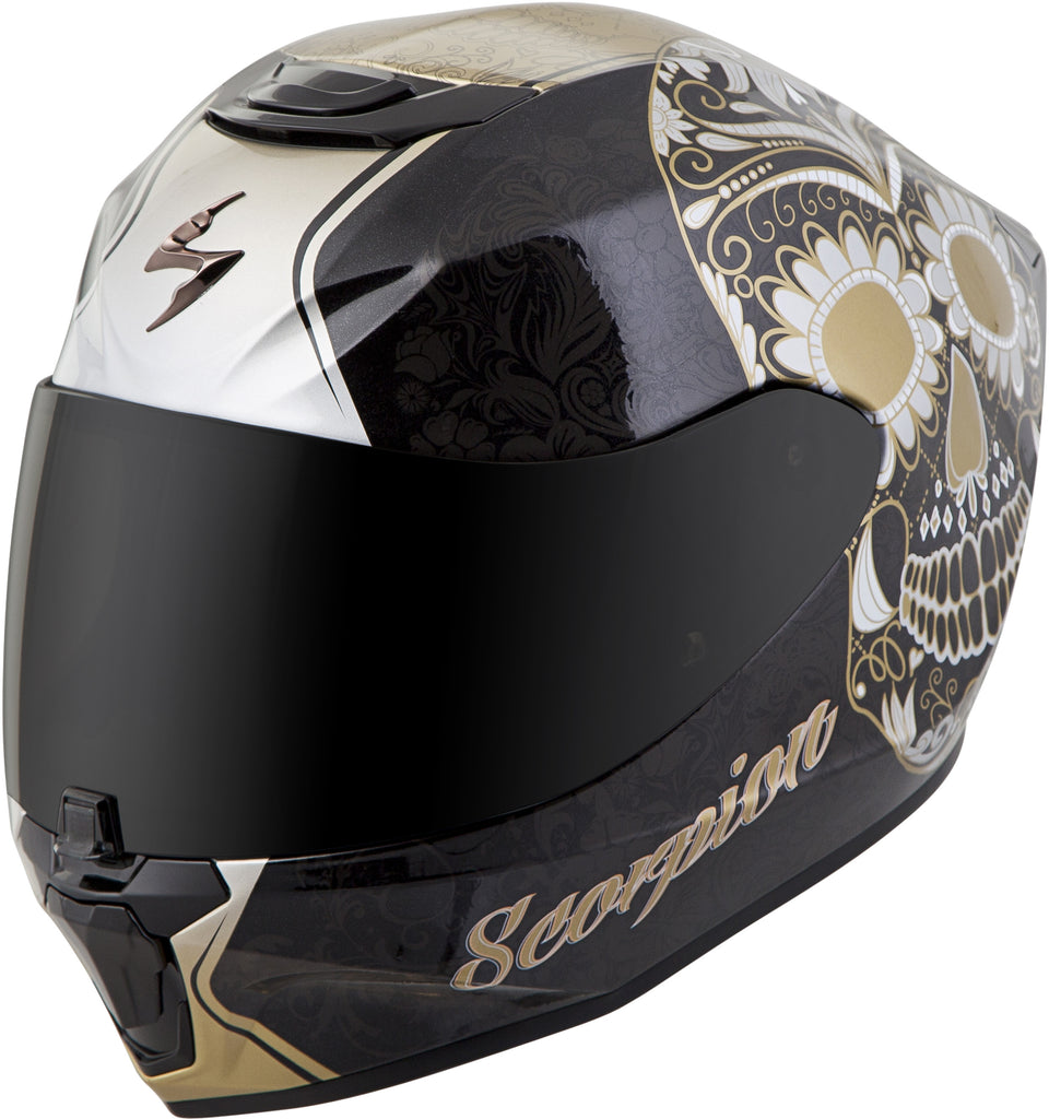EXO-R420 FULL-FACE SUGARSKULL HELMET BLACK/GOLD S