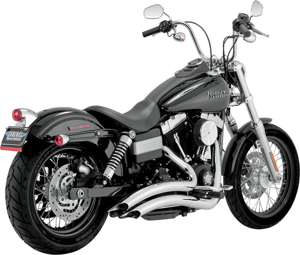 VANCE & HINES BIG RADIUS, CHROME (FOR 12-14 Dyna, except 12-14 FLD)