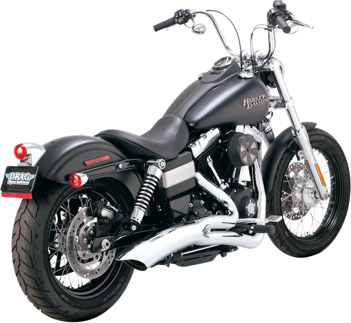 "VANCE & HINES BIG RADIUS 2-INTO-1 CATALYTIC (for 08-10 FXST/FLST 96"" AND 103"" models, will also fit FXDB/FXDC/FXDL/FXDWG if passenger pegs are removed)"
