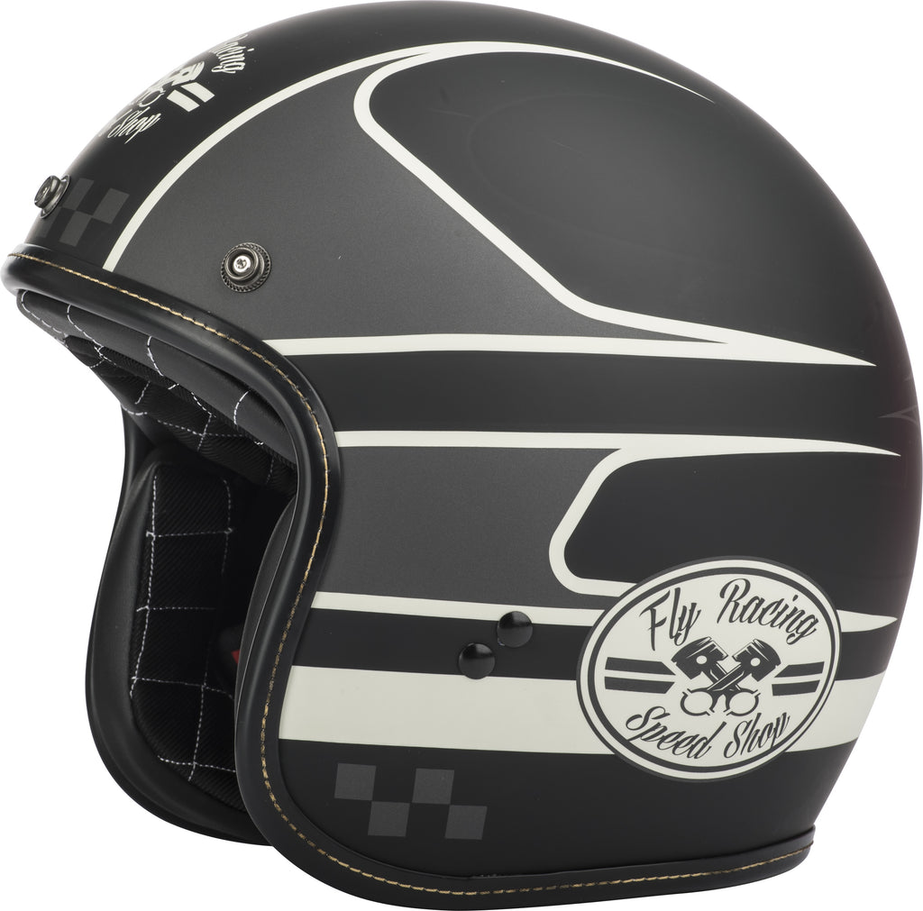 .38 WRENCH HELMET BLACK/VINTAGE WHITE 2X