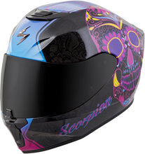 Load image into Gallery viewer, EXO-R420 FULL-FACE SUGARSKULL HELMET BLACK/PINK S