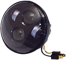 Load image into Gallery viewer, 5 3/4 LED HEADLIGHT BLACK HIGH DEFINITION
