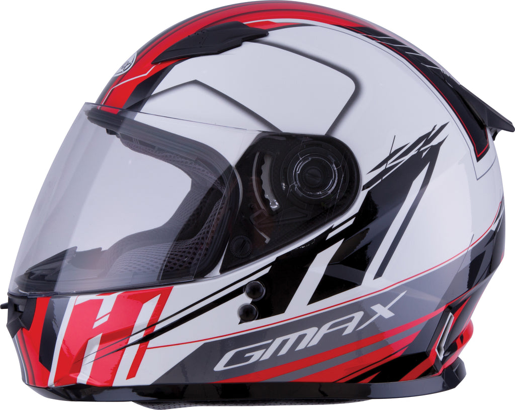 YOUTH GM-49Y FULL-FACE ROGUE HELMET WHITE/RED YL